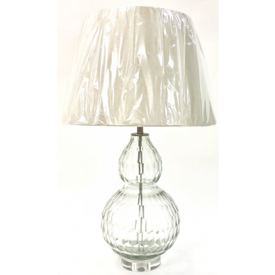 Optic Clear Glass Gourd Lamp