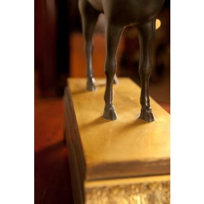 Antique Bronze & Gilt Horse