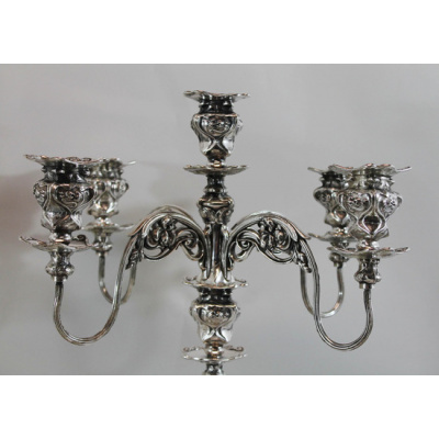 Antique Barbour Silver Candelabras