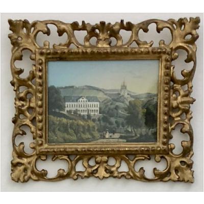 Antique Italian Gilt Acanthus Leaf Frame