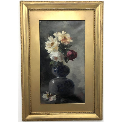 Antique A.Mylius Still Life Vase/Flowers