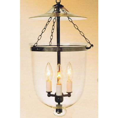 Aspen 9x21 Clear Bell Jar Lantern