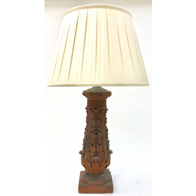 Antique Terracotta Acanthus Lamp *Hold