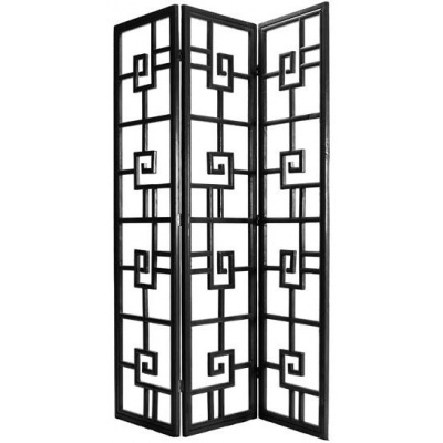 Harrow 3 Panel Screen - Black