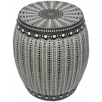 Tristen Black Dot Porcelain Garden Stool