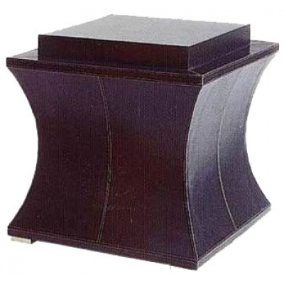 Easton Square Hourglass Leather Table