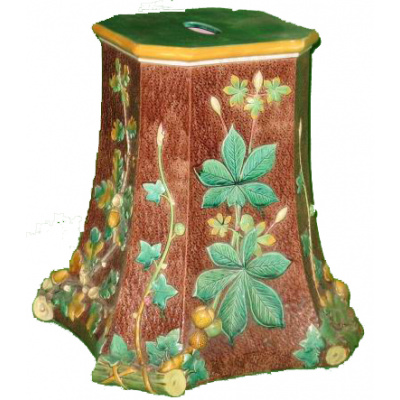 Antique Majolica Garden Stool