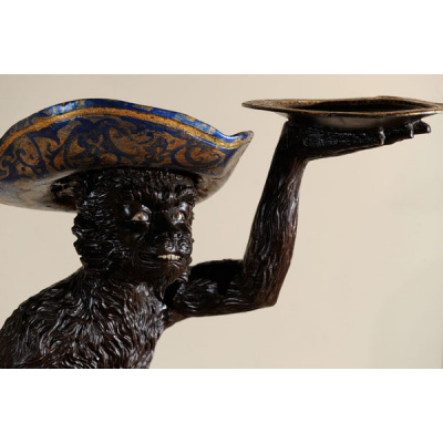 Antique Blackamoor Large Monkey