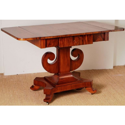 Antique Swedish Mahogany Sofa Table