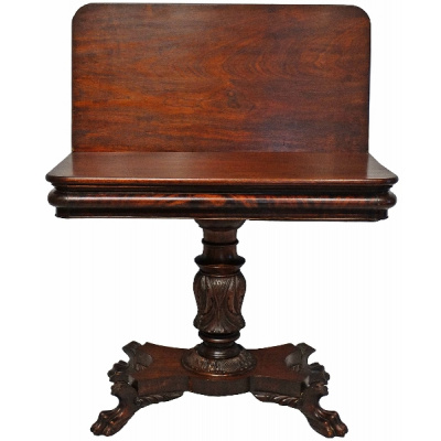 Antique Mahogany Claw Foot Card Table