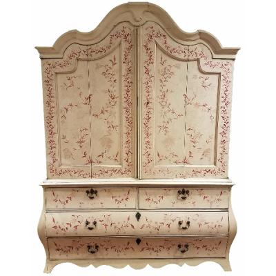 Antique Painted Dutch Armoire