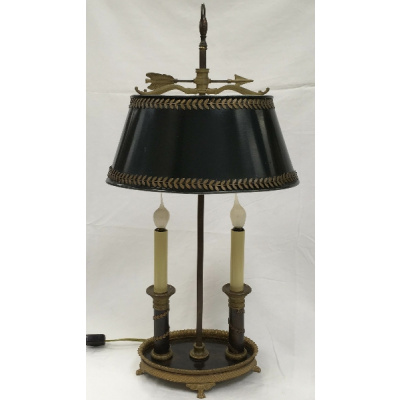 Antique French Bouillote Lamp