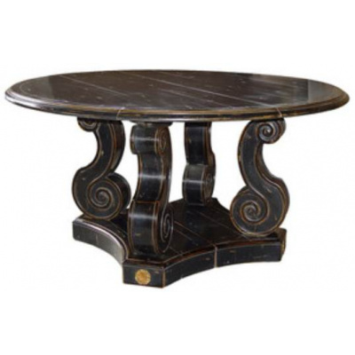 French Baroque Round Dining Table
