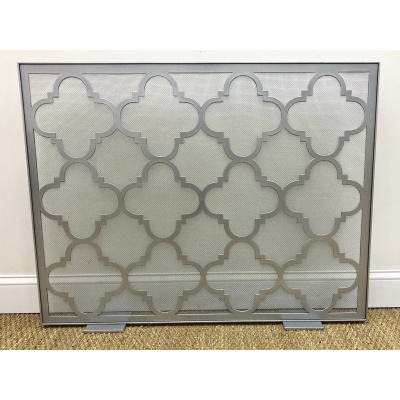Metalworks Circular Lattice Fire Screen