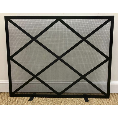 Metalworks Large Lattice Fire Screen