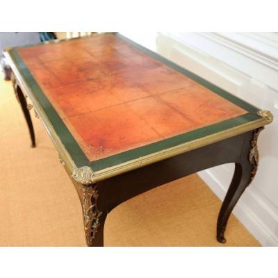 Antique Louis XV Style Green Bureau Plat