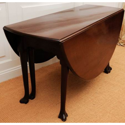 Antique Drop Leaf Table with Trifid Feet