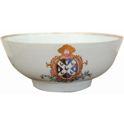 Antique Chinese Export Armorial Bowl