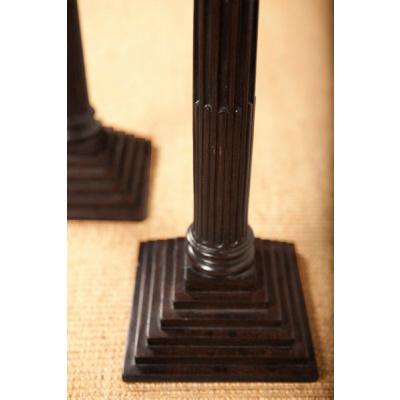 Antique Columnar Wood Candlesticks *Hold