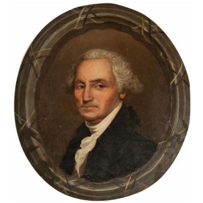 Antique George Washington Oval Portrait
