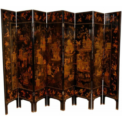 Antique 8Panel Chinese Coromandel Screen