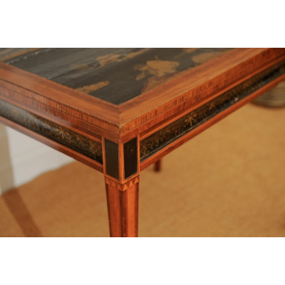 Antique Sheraton Tea Table w/Chinoiserie