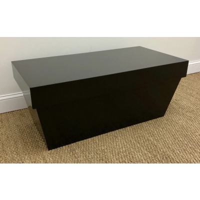 Black Lacquered Tapered Cocktail Table