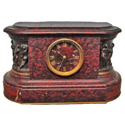 Antique French Renaissance Marble Clock