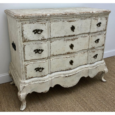 Scandinavian Skirted Commode