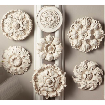 Faux Plaster Medallion Wall Hanging