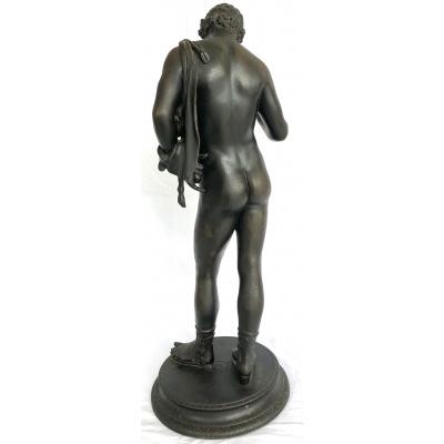 Antique 19th c. Bronze Narcissis Figure