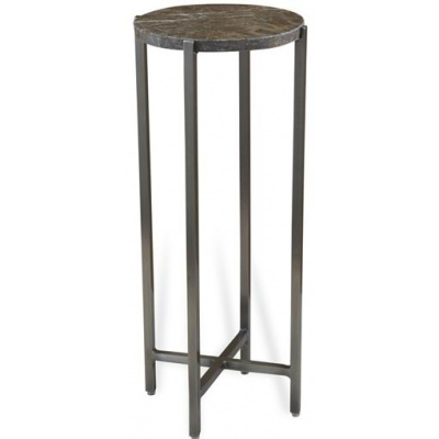 Rudin Square Drink Table w/Ivory Marble