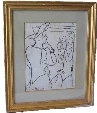 """Reflection"" Signed H.Matisse"