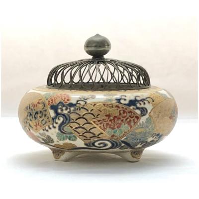 Antique Meiji Period Censer w/Wire Lid