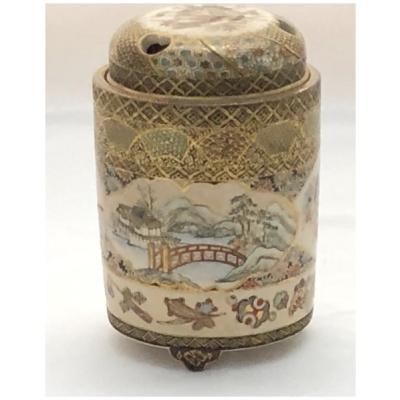 Antique Meiji Period Satsuma Koro #5