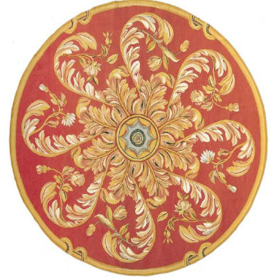 Palais Aubusson Coral Acanthus Swirl Rug