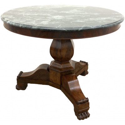 Antique French Center Table w/GRN Marble