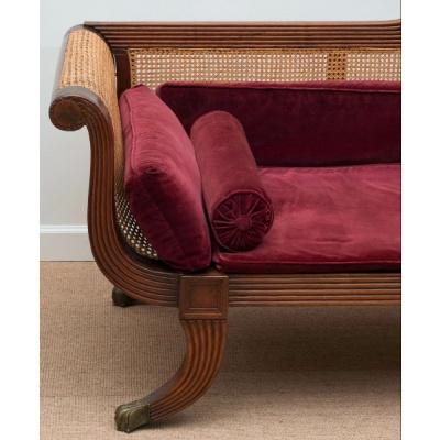 Antique Grecian Style Sofa w/Cane