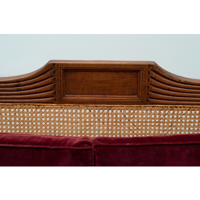 Antique Grecian Style Sofa w/Cane