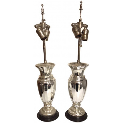 19th c. Pair of Mercury Lamps