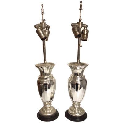 19th c. Pair of Mercury Lamps