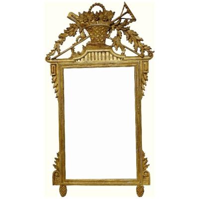 Vintage Italian Carved Gilded Mirror