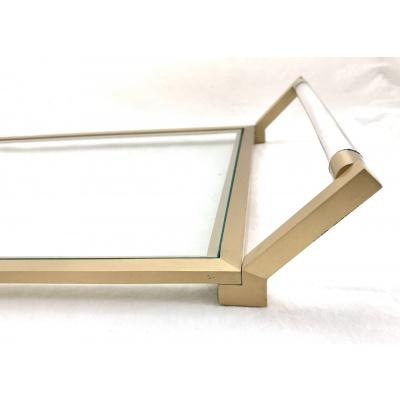 Delaplaine Brass & Glass Serving Tray