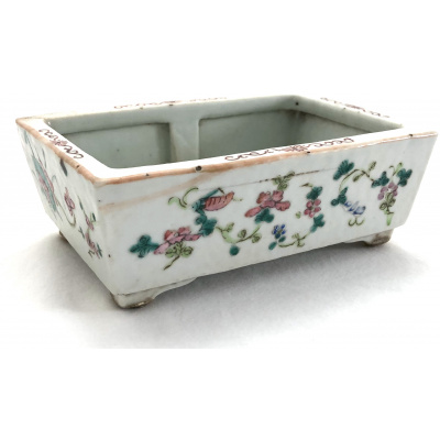 Antique Chinese Rectangular Footed Pot