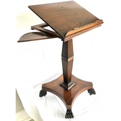 Early 19th c. Mahogany Music Book Stand
