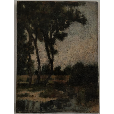 Antique Eleanor Douglas Trees &Pond*Hold
