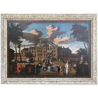 17th c. Palace Courtyard, Dutch School