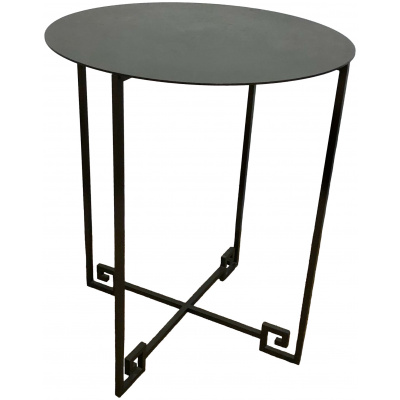 "Metalworks Greek Key 21""Round Table"
