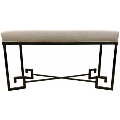 Metalworks Greek Key Bench
