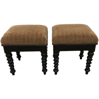 Pair of Barley Twist Storage Stools